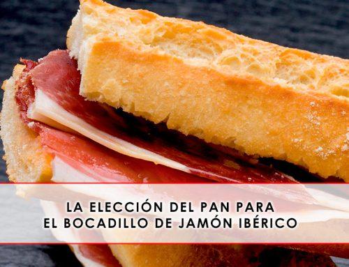 La elección del pan para el bocadillo de jamón ibérico