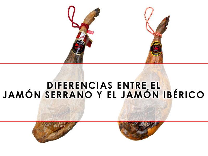 Diferencias entre el jamón ibérico y el jamón serrano