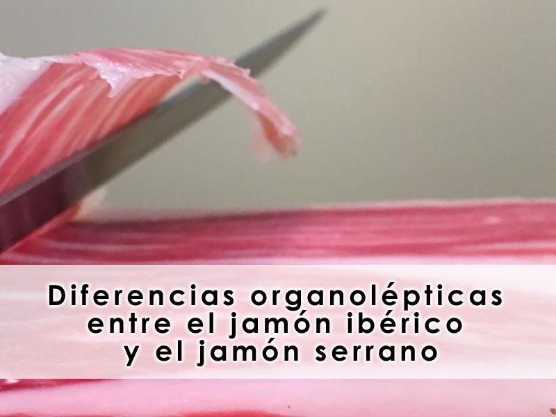 diferencias organolépticas entre el jamón ibérico y el jamón serrano