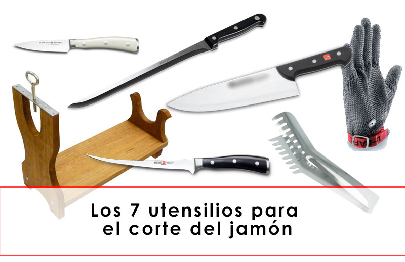 utensilios para el corte del jamón