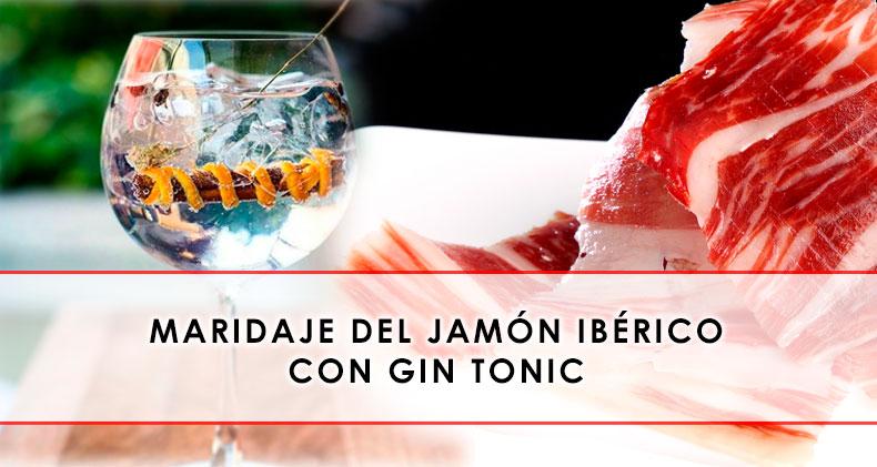 maridaje del jamon iberico con gin tonic