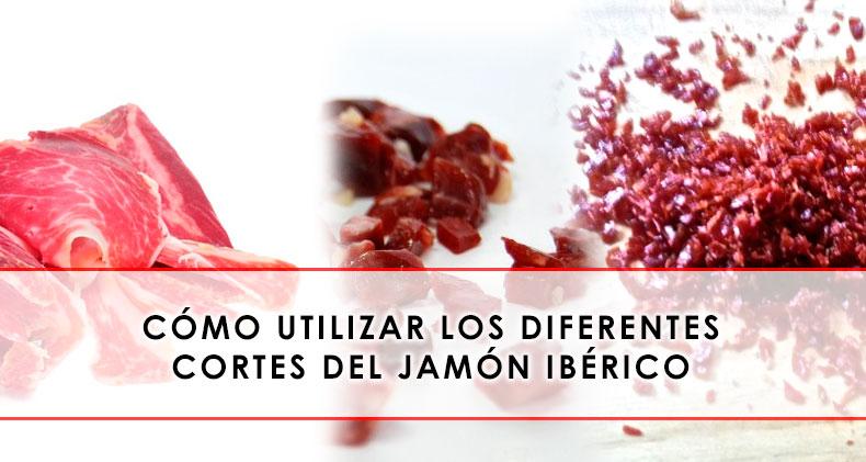diferentes cortes del jamón ibérico