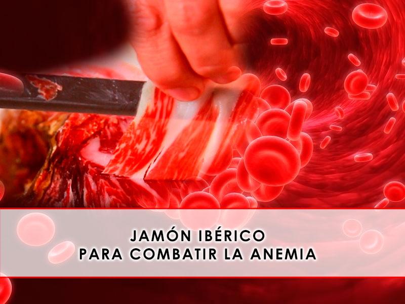 Jamón ibérico para combatir la anemia