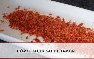 cómo hacer sal de jamón